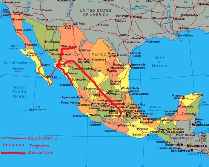 Cartina Politica Messico.Mexico E Baya